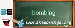 WordMeaning blackboard for bombing